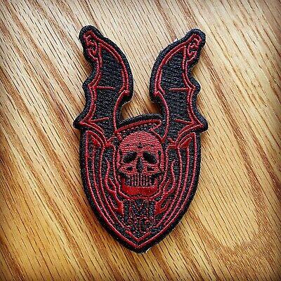 Strider Knives Patch Mick Strider Custom Winged Skull Red/Black