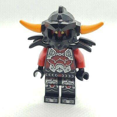 Lego Ash Attacker 70322 70315 70323 70317 Orange Horns Nexo Knights Minifigure