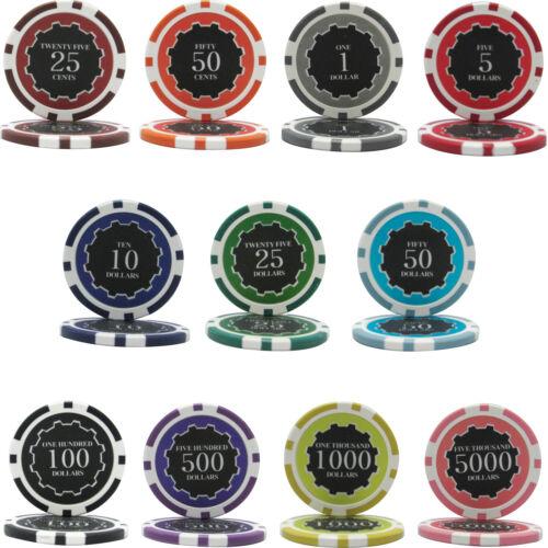 1000pcs 14G ECLIPSE CASINO CLAY POKER CHIPS BULK - Choose Denominations