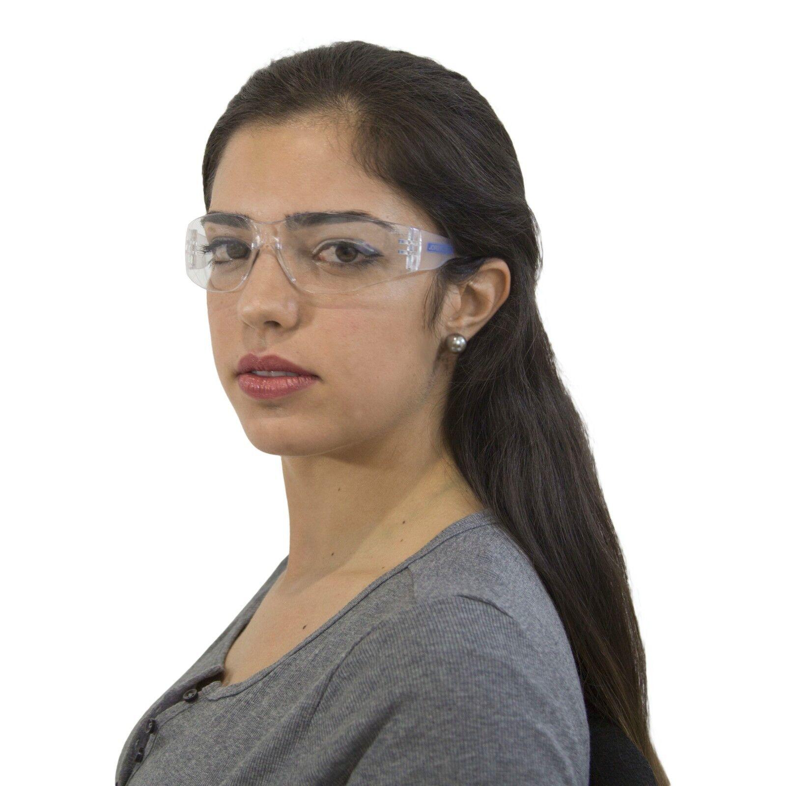 12 PAIR JORESTECH CLEAR UV LENS LOT SAFETY GLASSES BULK NEW