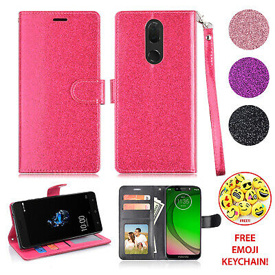 For Coolpad Legacy/ Coolpad Alchemy Girls Glitter Bling Sparkle Wallet Card Case - Glitter For Girls