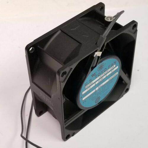 New 80mm Fan U.S. Toyo USTF80381153W 115 Volt, 34 CFM