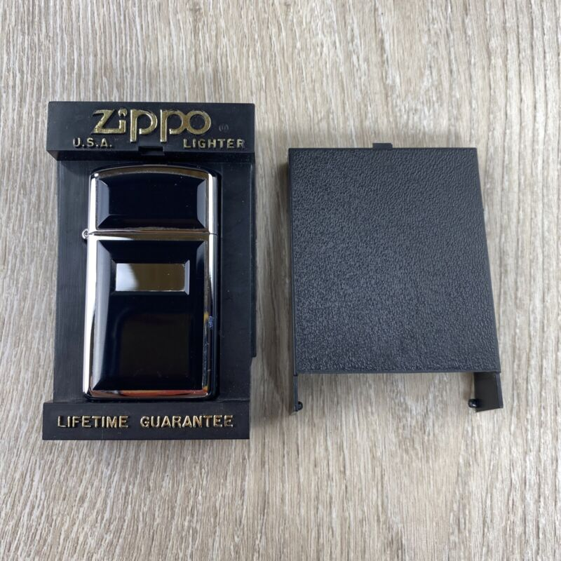 1998 ZIPPO SLIM ULTRALITE LIGHTER UNFIRED 🔥 w/ case