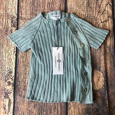 Violeta e Federico Girls 12 Months Cottage Green Lalo Jumper Sweater NWT