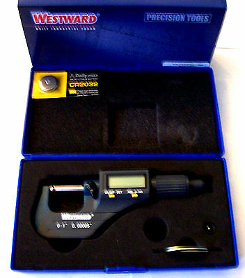 Westward Digital Lcd Electronic Micrometer 0-1 Sae Inch 0-25mm Metric 4ku89