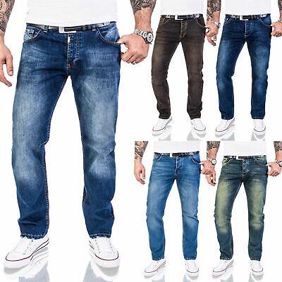 Rock Creek Designer Herren Jeans Hose Regular Fit Stonewash Jeans W29-W44 M17 Herren 17