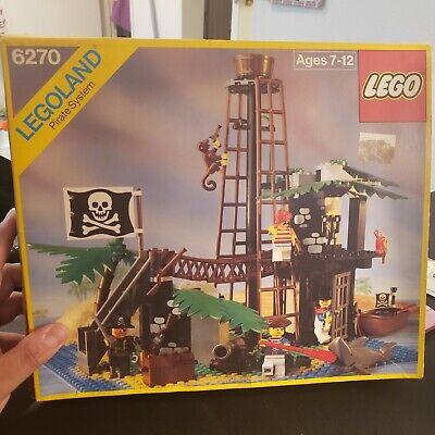 Lego 6270 Vintage Pirates Forbidden Island incomplete w/box & Instructions 1989