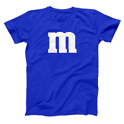 M & Candy Costume Set Funny  Humor  Halloween  Group Royal Blue Men's T-Shirt - Funny Group Halloween Costumes For Men