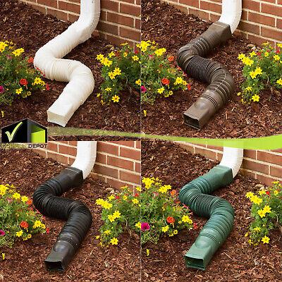 """Flex Drain Downspout Extension Rain Pipe Spout Gutter Flexible Expandable 25-55"""""""