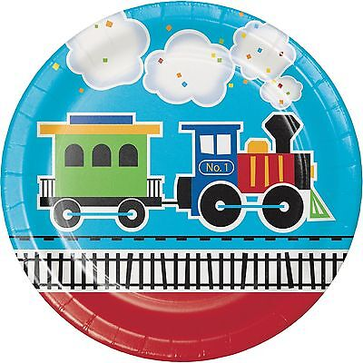 All Aboard Train Birthday Party Supplies Large Dinner Plates](Train Party Supplies)