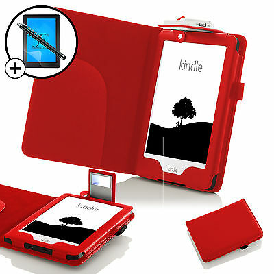 Piel Rojo Funda Estuche con Luz LED Amazon Kindle 2016 Protector de Pantalla & segunda mano  Embacar hacia Spain