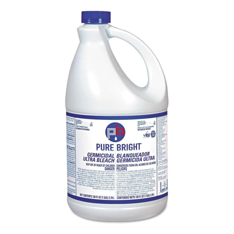 Pure Bright Bleach 1 gal. Jug Chlorine Scent 6 Ct KIKBLEACH6