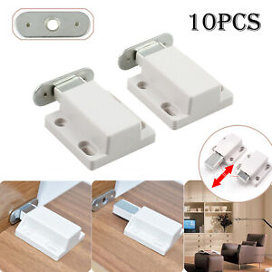 10X Push To Open Magnetic Pressure Touch Release Cabinet Doors Catches Latch uk