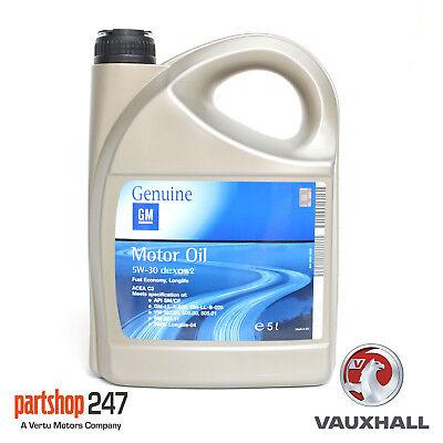 Car Parts - GENUINE GM VAUXHALL BMW FULLY SYN 5w 30 ENGINE MOTOR OIL 5 LITRE DEXOS 2 DEXOS2