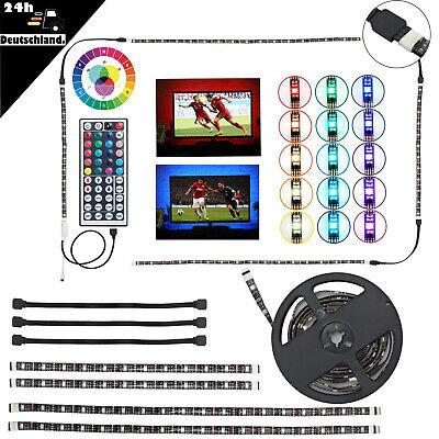 Beleuchtung Band (4x LED TV Hintergrund-Beleuchtung RGB Strip Streifen Band Lichtleiste Backlight)