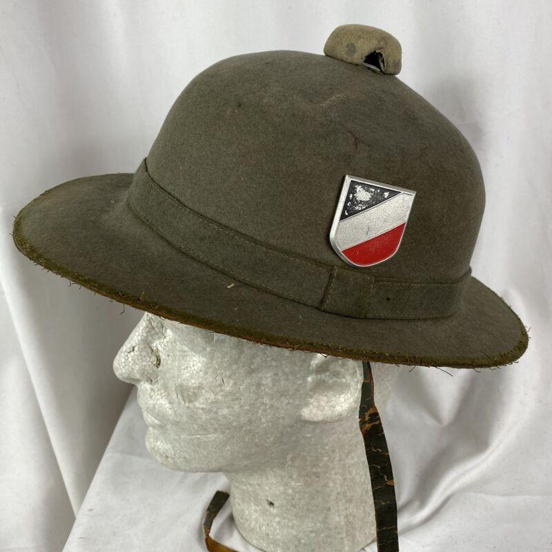Original Wwii Heer German Tropical Pith Helmet Africa Korp