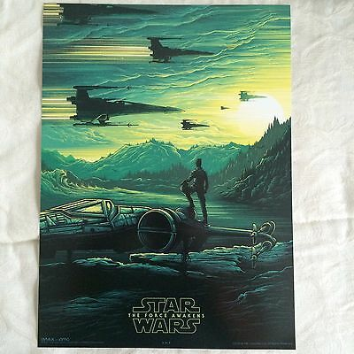 STAR WARS: THE FORCE AWAKENS (Poe Dameron) EXCLUSIVE AMC IMAX 9.5x13