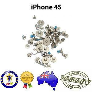 for iPhone 4S  - FULL SCREW SET inc Bottom Pentalobe Screws - New