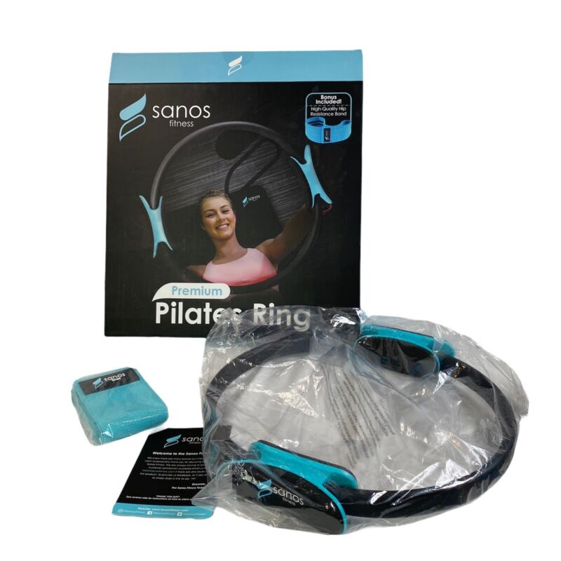Sanos Fitness Premium Pilates Ring Hip Resistance Band Workout Active Fitness