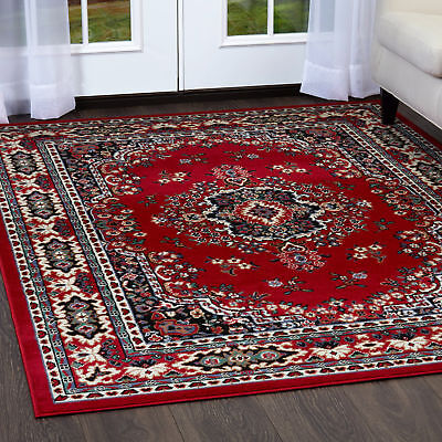 PERSIAN BURGUNDY AREA RUG 6 X 8 ORIENTAL CARPET 69 - ACTUAL 5' 2