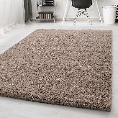 Chinesische Teppich (Hochflor Shaggy Teppich Langflor Pflegeleicht Einfarbig Teppich Beige )