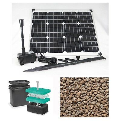 50 Watt Solar Pond Pump Filter Garden Submersible Water Element New