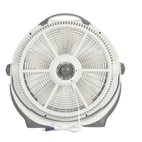 "Lasko 20"" Air Circulator Wind Machine, 3-Speed Floor Fan, A20301, Gray"