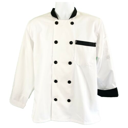 Womens New Happy Chef X-Small Professional Fashionable Long Sleeve Chef Coat