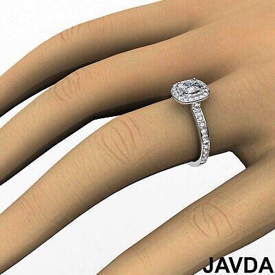 Cushion Diamond Engagement GIA G VS2 Halo Pave Set Ring 18k White Gold 0.87Ct 6