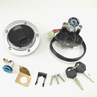 Suzuki GSXR600 750 Ignition Switch Fuel Gas Cap cover Seat Lock Key Set 2004-15