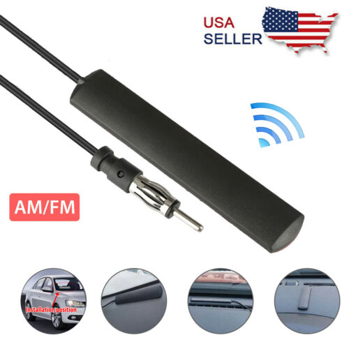 Car Radio Stereo Hidden Antenna Stealth FM AM For Vehicle Truck Boat Motorcycle Antennas