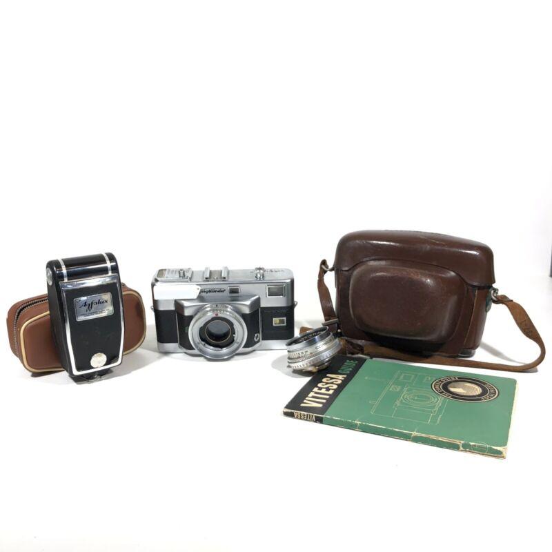Voigtlander Vitessa T 35mm German Rangefinder Film Camera w/50mm f2.8 & Manual