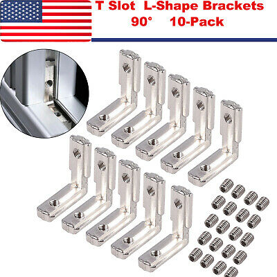 T Slot L-shape Brackets 90 Degree Aluminum Profile Carbon Steel Corner Connector