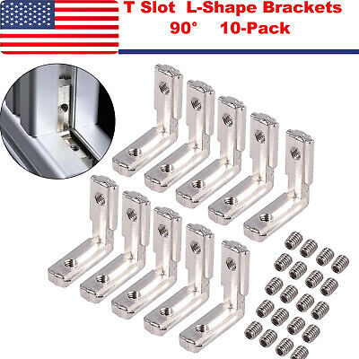T Slot L-shape Brackets 90 Degree Aluminum Profile Carbon Steel Corner Connector