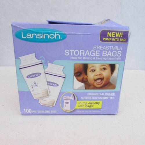 Lansinoh Breastmilk Breast Pump Storage Bags 100 Count Pump Direct Into Bags