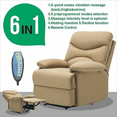 Ergonomic Massage Recliner Sofa Chair Microfiber Lounge Heated W/Control