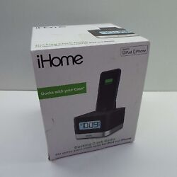 iHome iPL8BNX Dual Alarm FM Clock Radio w/ Lightning Dock iPhone w/ USB Charging