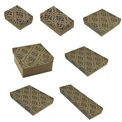 Kraft Damask Cotton Filled Jewelry Boxes Jewelry Gift Boxes Lot 100~200~500 Pc