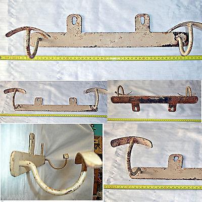 Antiguo Perchero de hierro - Original - Old iron coat rack