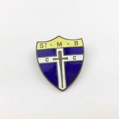 VINTAGE ST M.B C C CHRIST CHURCH ENAMEL BADGE