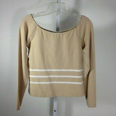 Worth Top Womens Small S Boatneck Sweater Stripe Cotton Spandex Cotton Spandex Jumper