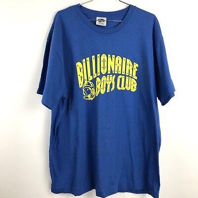Arch Logo Vintage T-shirt (Billionaire Boys Club Vintage Shirt XL Blue Arch Logo Blue Spellout Pharrell)