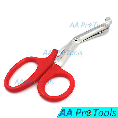 Utility Scissors For Cutting Fabrics Emt Medical Bandage Shears 7 12 Red