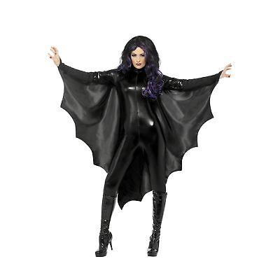 Vampire Bat Wings Haloween Cape Spooky Adults Womens Ladies Fancy Dress Costume - Adult Haloween Costumes