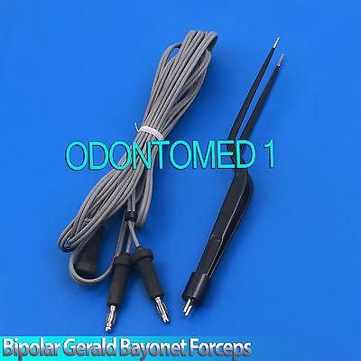 Bipolar Gerald Bayonet Forceps 19.5cm Non Stick Reusable Electrosurgical El-006