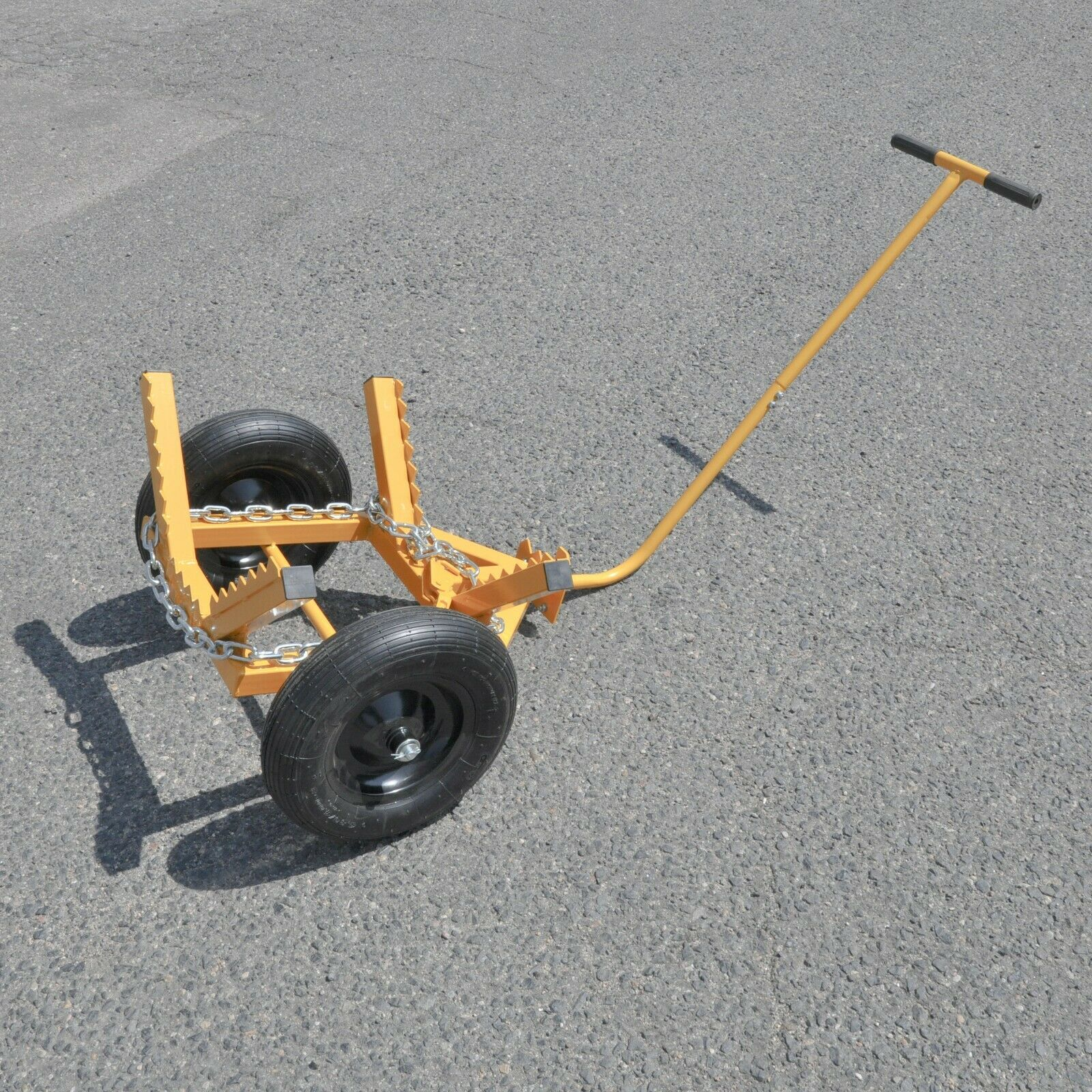Tool Tuff Log Dolly Cart with Load Binder & Chain - 440 lb C