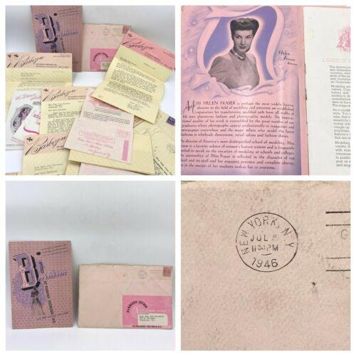 Vintage 1946 Barbizon Model Course Booklet 4 Letters Helen Fraser Signature BK4