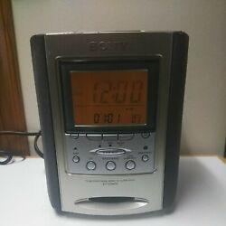 Sony ICF-CD863V Dream Machine CD Player AM/FM Radio Alarm Clock TESTED
