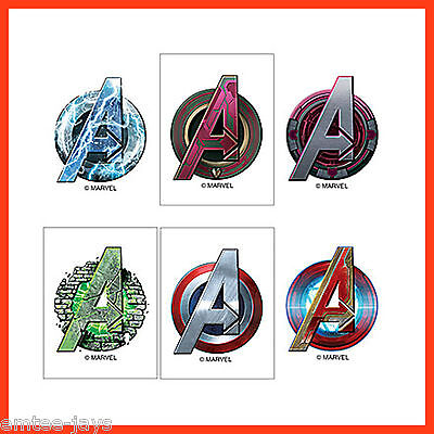Avengers Party Ideas (Avengers Logo Tattoos x 12 pieces - Party Favours - Birthday Loot Bag Idea)