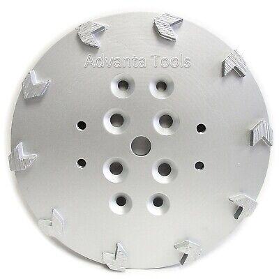 10 Concrete Grinding Head For Edco Blastrac Floor Grinders - 10 Arrow Segments